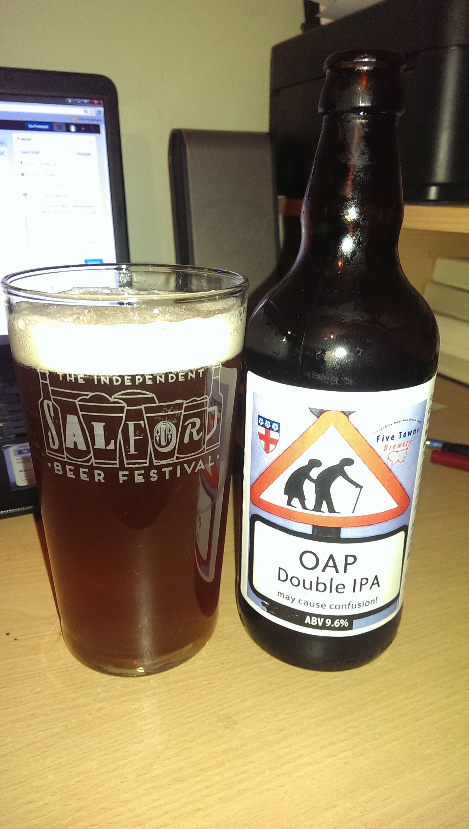 OAP – North Riding Brewpub (Scarborough) / Five Towns Brewery (Wakefield) –  9.6%abv – Double IPA – Direct from the brewers.