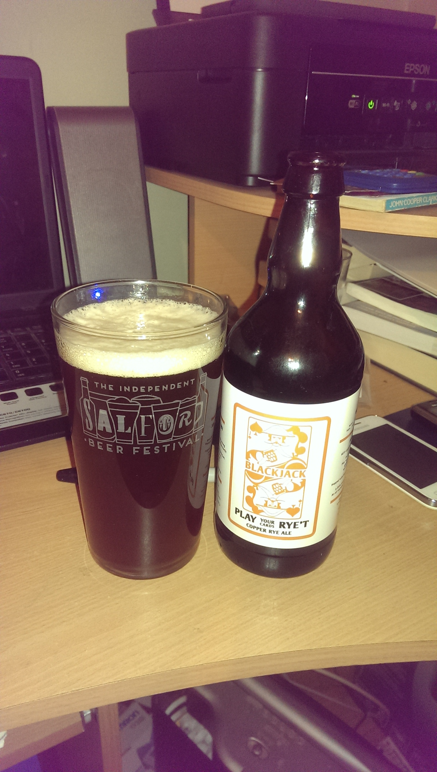 Play Your Cards Rye't – Black Jack Beers (Manchester) – 4.9% abv – Copper  Rye Ale – 500ml – Bottle (Heaton Moor)
