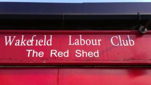 Red Shed sign